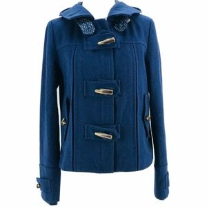 Elevenses Anthropologie Navy Blue Long Sleeve Firs